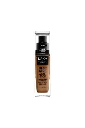 NYX Professional Makeup Fondöten - Can't Stop Won't Stop Full Coverage Foundation 16.5 Nutmeg 30 ml 800897157340 0