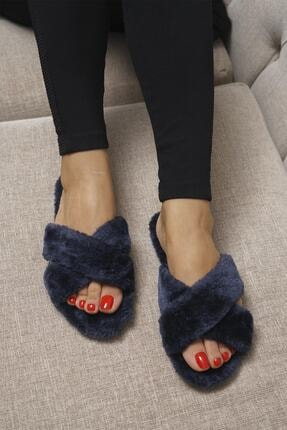 OCT Shoes Kadın Lacivert Terlik TS1026 0