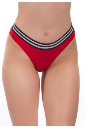Nipora Kadın Kırmızı Pamuklu Basic Spor Bikini Tip Külot 0338 0