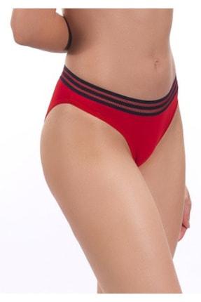 Nipora Kadın Kırmızı Pamuklu Basic Spor Bikini Tip Külot 0338 2