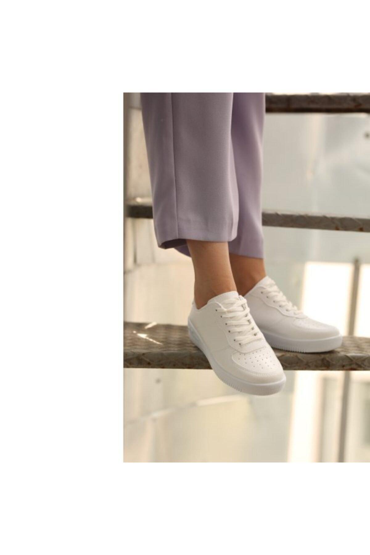 WoW Ayakkabı Beyaz Kadın Spor Ayakkabı