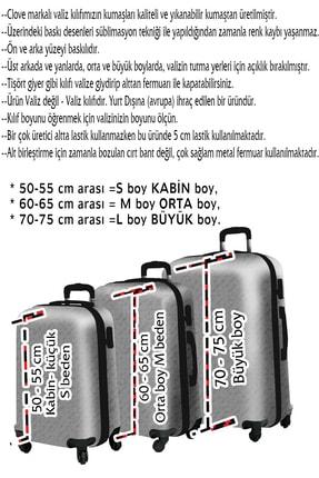 Clove Beyaz Kabin Boy  Valiz Kılıfı 2