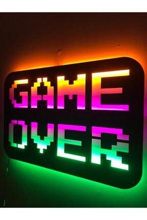 dekoraven Game Over Led Işıklı Tablo 1