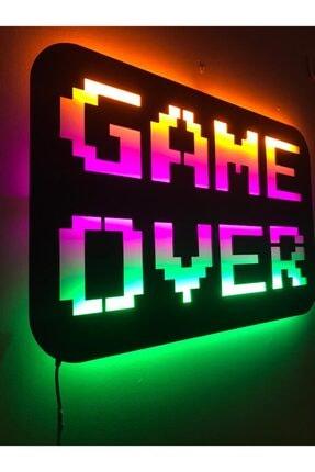 dekoraven Game Over Led Işıklı Tablo 2