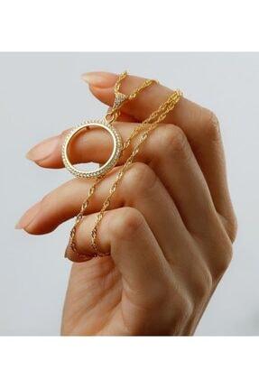 Gümüşistan 925 Ayar Gümüş Çeyrek Altın Kolye 1
