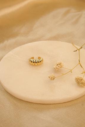 MaidCo Accessories Kadın Gold Burgu Dokulu Kıkırdak Küpe Kp1060 3
