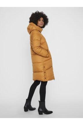 Vero Moda Kadın Taba Uzun Kapüşonlu  Şişme Mont 10232610 VMUPSALA 3