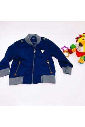 Unisex Çocuk Lacivert Armalı Bomber Yağmurluk resmi