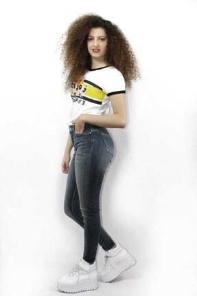 George Kadın Gri Chloe Mid Rise Skinny Jean 1