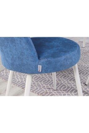 Stoker Lora Premıum Yemek Masa Takımı 6 Sandalyeli (mavi) 4