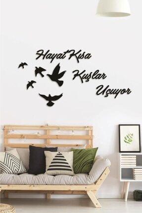Hellove Hayat Kısa Kuşlar Uçuyor Duvar Dekoru Mdf Tablo Duvar Süsü Ahşap 0
