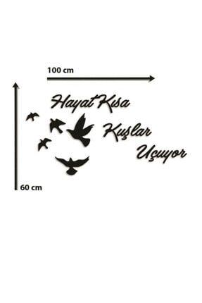 Hellove Hayat Kısa Kuşlar Uçuyor Duvar Dekoru Mdf Tablo Duvar Süsü Ahşap 1