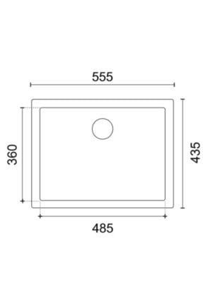 Vıvıano | | 1 Göz Mermer Altı 44x56 Cm Siyah Granit Evye 2