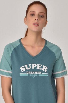 bilcee Turkuaz Kadın T-Shirt GS-8616 1