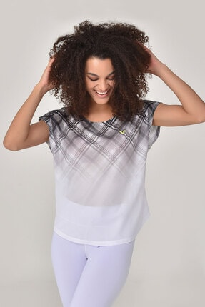 bilcee Beyaz Kadın T-shirt  GS-8032 0