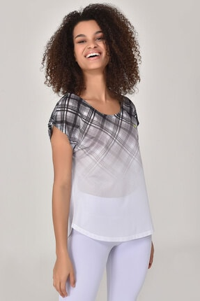 bilcee Beyaz Kadın T-shirt  GS-8032 4