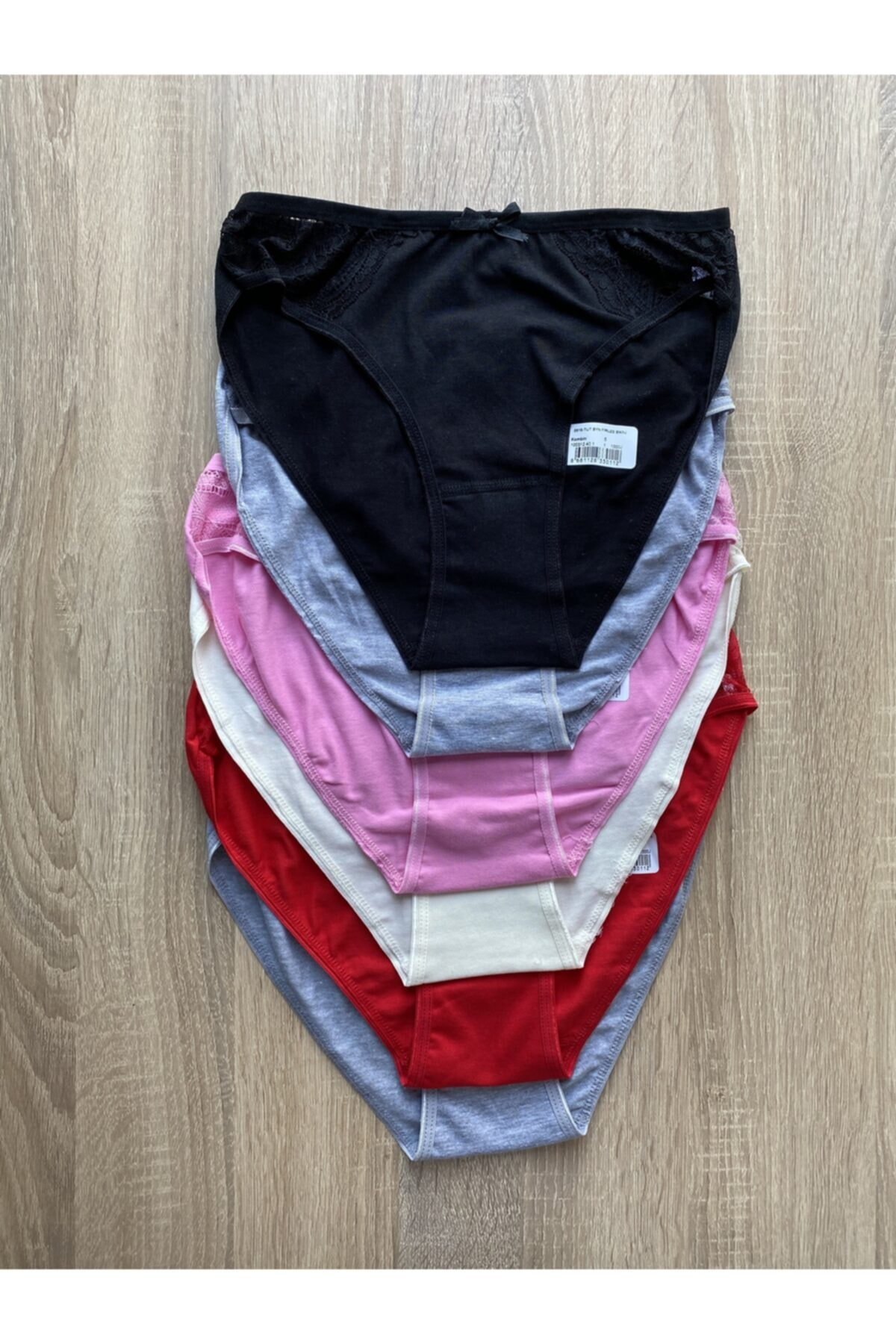 Kadın Renkli  Bikini Alt Kombin Firuze  6 Lı 0515