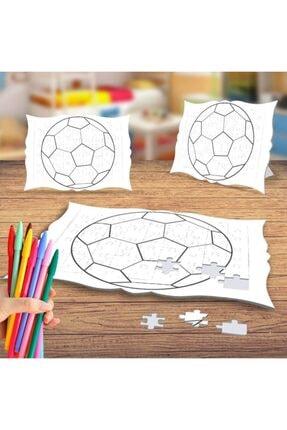 Asilmeydan Futbol Topu Boyama Puzzle Tablo Çocuk Eğitici Yapboz 0