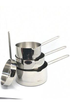 İnci Çelik Kaçerola Sütlük 4'lü Set (sosluk Ve 12cm-14cm-16cm Sütlükler) 1