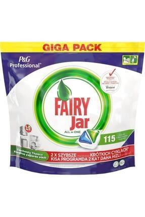 Fairy Jar Tablet Hepsi Bir Arada Bulaşık Makinesi  Deterjanı 115 li 0