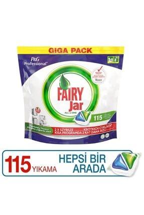 Fairy Jar Tablet Hepsi Bir Arada Bulaşık Makinesi  Deterjanı 115 li 1