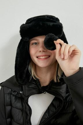 Picture of 12749 Kürklü Kulaklıklı Siyah Bere YL