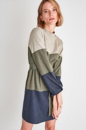 TRENDYOLMİLLA Çok Renkli Kuşaklı Elbise TWOAW21EL2074 2