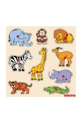 Chiva1 Safari Hayvanlar Ahşap Puzzle Cs-1009 0