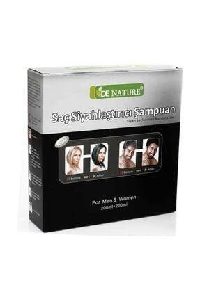 De Nature Saç Siyahlaştırıcı (beyaz Saç Giderici) Şampuan 0