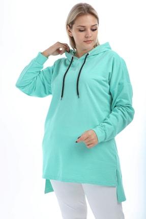 Picture of Kadın Mint Yeşili Tunik Sweat Kapş.Bsc Tb21Kb258579