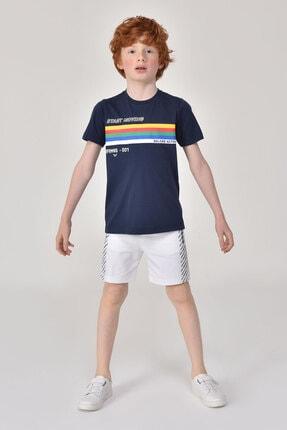bilcee Beyaz Erkek Çocuk Şort GS-8162 2