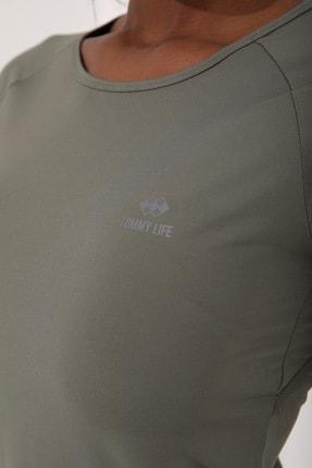 Tommy Life Çağla Kadın Sırt Pencereli Kısa Kol Standart Kalıp O Yaka T-shirt - 97101 4