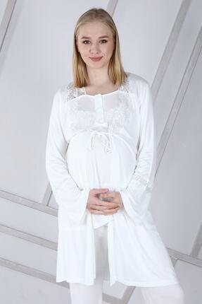 Duchesse Lohusa Sabahlıklı Pijama Takımı 1002 1