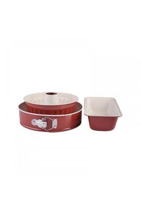 Karaca Retro Kırmızı Kek Seti 2