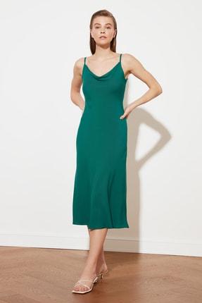 TRENDYOLMİLLA Yeşil Askılı Elbise TWOSS19EL0172 0