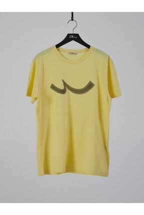 Ltb Erkek  Sarı  Baskılı  Kısa Kol Bisiklet Yaka T-Shirt 012208415960890000 0