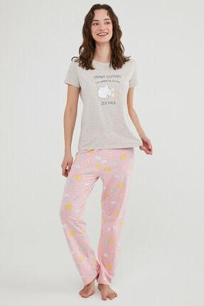 Penti Çok Renkli  Pantolon Pijama Takımı 0