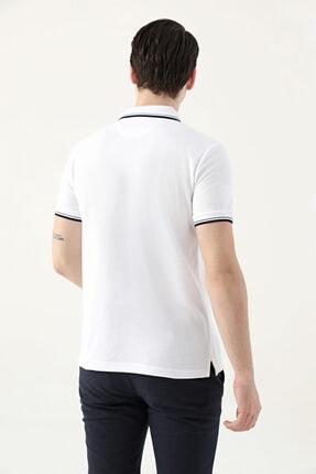 D'S Damat Ds Damat Slim Fit Beyaz Pike Dokulu T-shirt 3