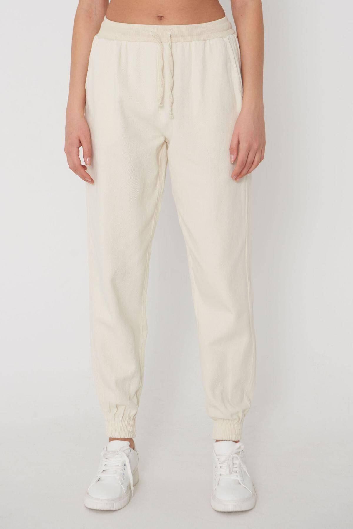 Addax Paçası Lastikli Pantolon Pn01-072 - W3 3