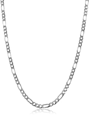 Ventino Silver Erkek Figaro Gümüş Zincir Kolye Vek-3025 4
