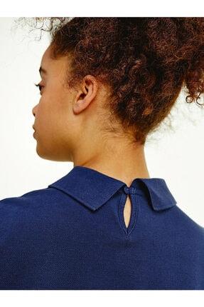 Tommy Hilfiger Kadın Mavi Baskılı  T-shirt 2