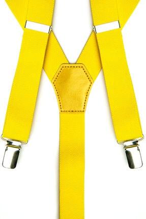DWOY Metal Klipsli Sarı Ince Pantolon Askısı 1