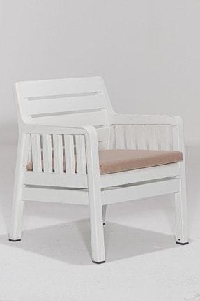 SANDALİE Lara 2 1 1 S Balkon&teras Bahçe Mobilyası / Beyaz 3
