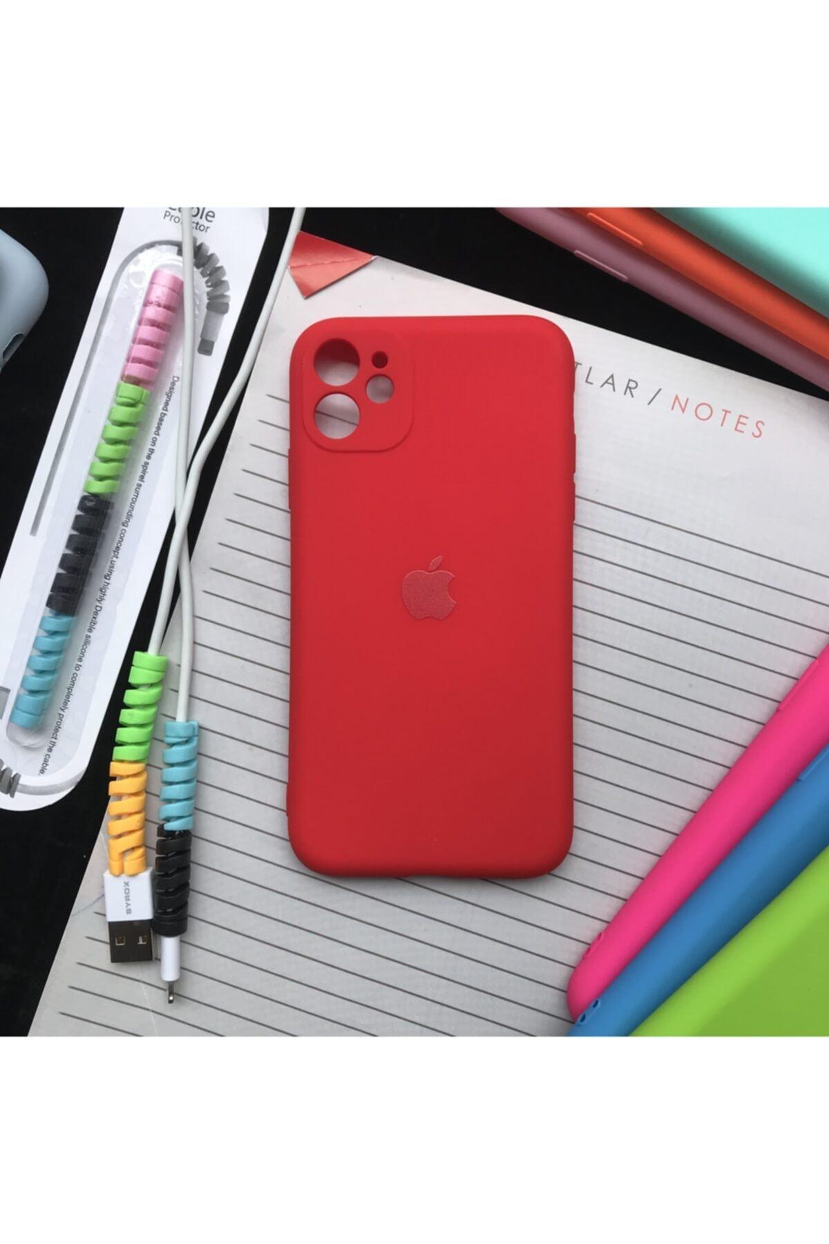 Iphone 11 Kamera Korumalı Model, Kılıf Ve Kablo Koruyucu Makaron