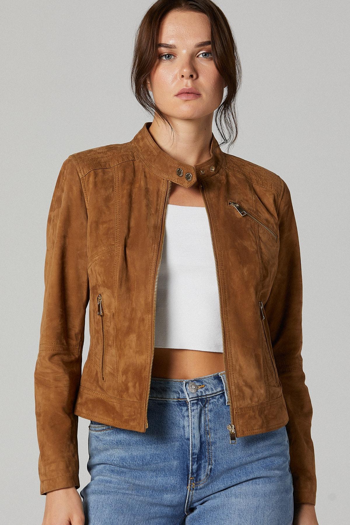 Kylie Kadın Süet Deri Ceket