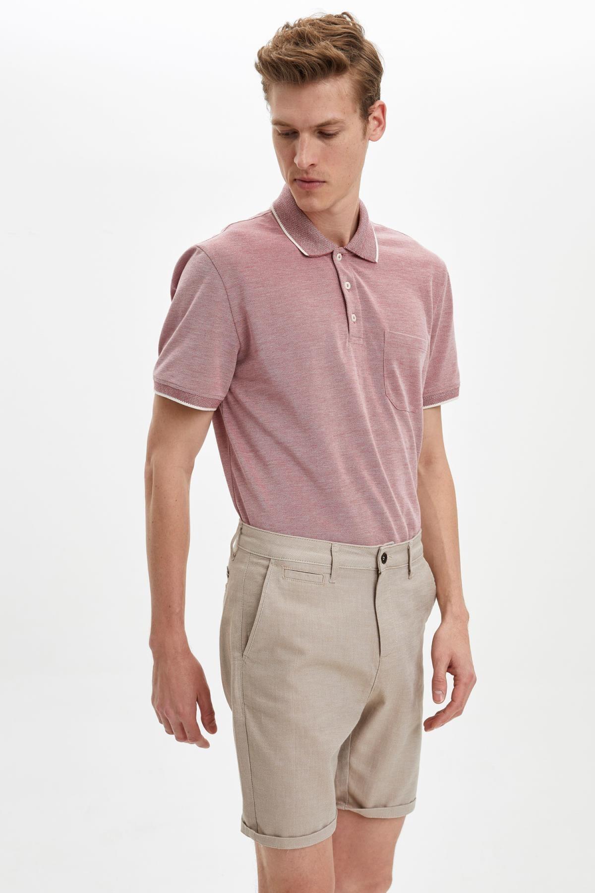Regular Fit Polo Yaka Cepli Kısa Kollu Tişört