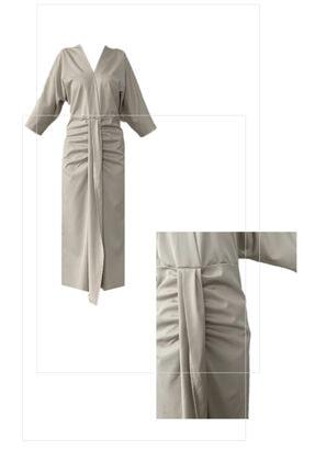 Buzgu Detayli Elbise Bysym24