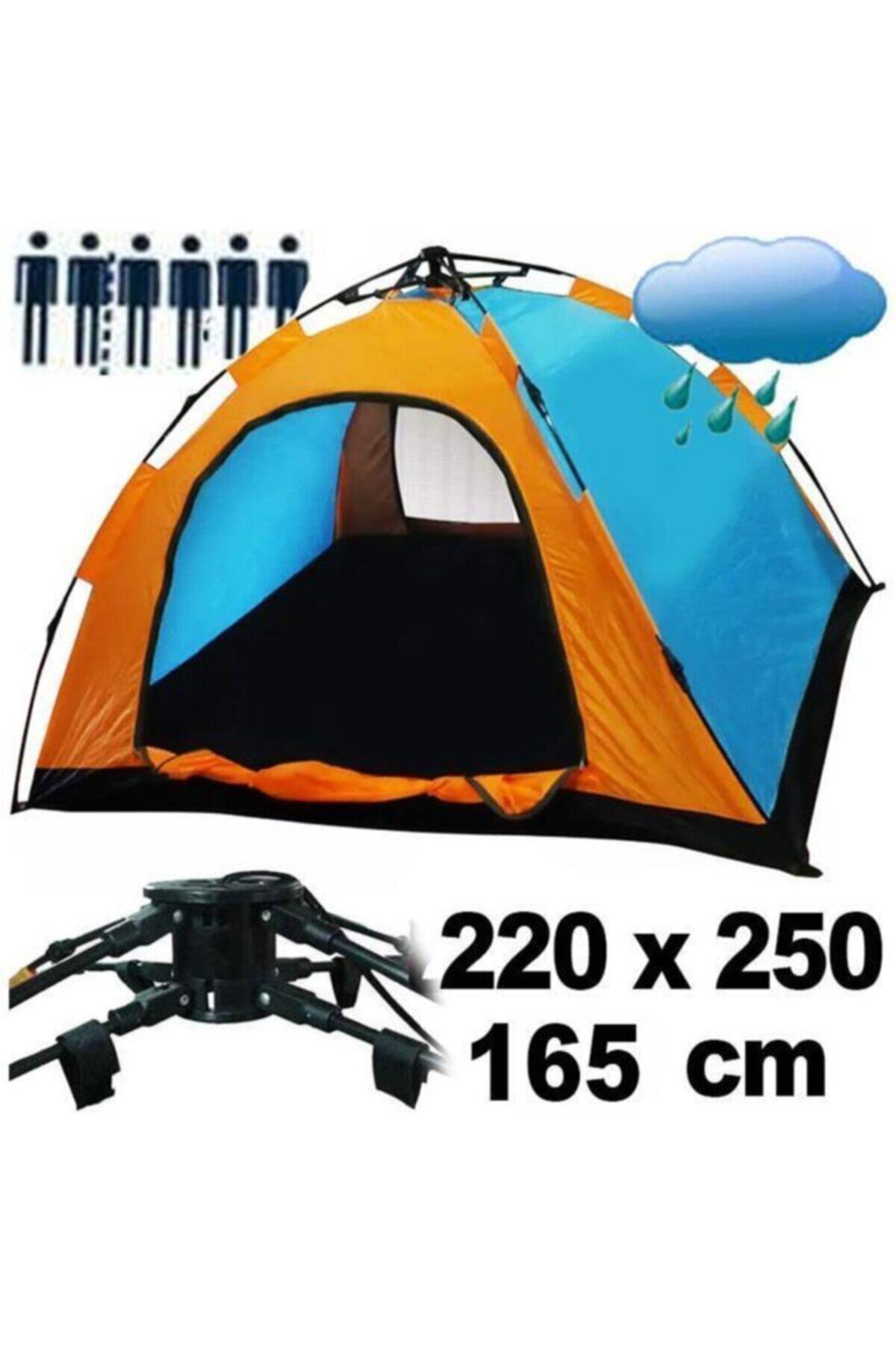 6 Kişilik Tam Otomatik Kurulum Kamp Çadırı 250 X 220 X 165 Cm Ce