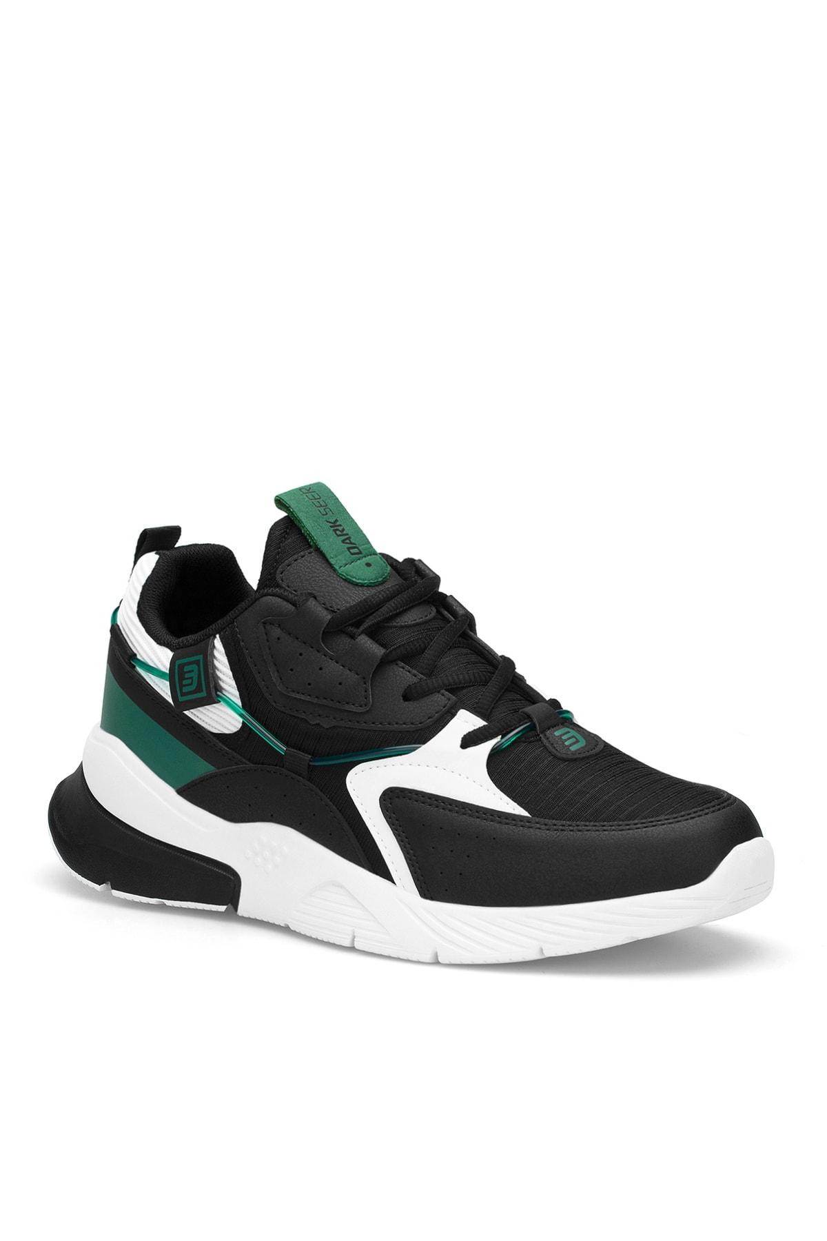 Siyah Beyaz Yeşil Erkek Sneaker