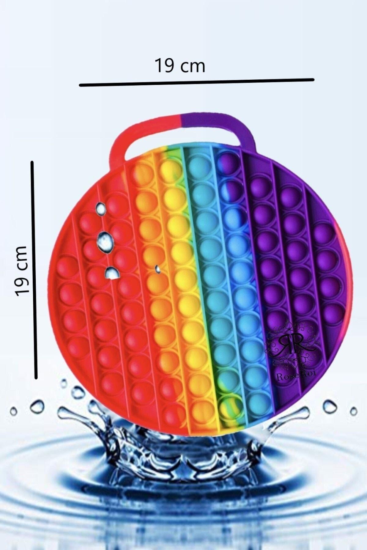 Pop It Push Bubble Stres Giderici Oyuncak Popit Daire 19x19 Cm